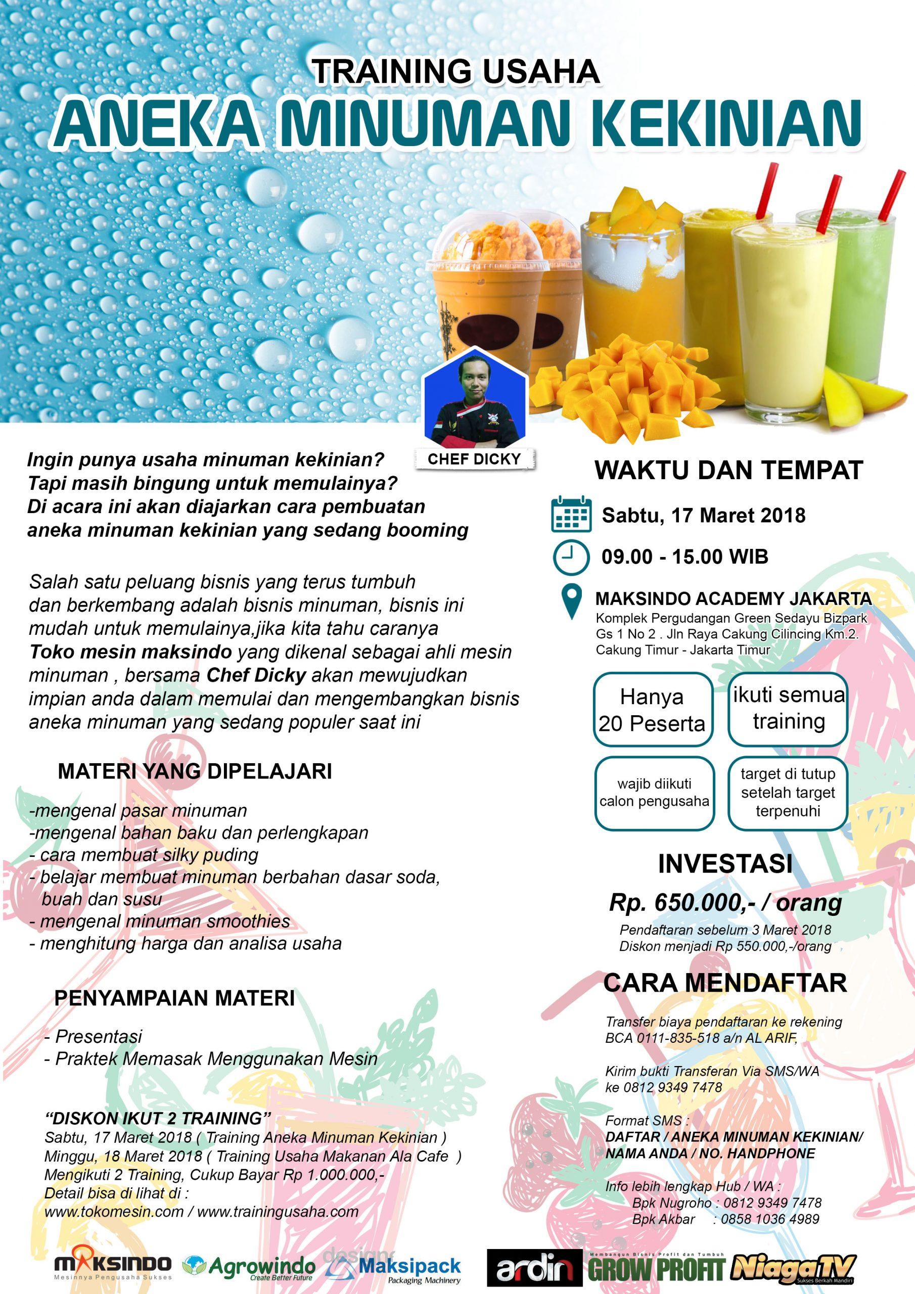 Training Usaha Aneka Minuman Kekinian, 17 Maret 2018