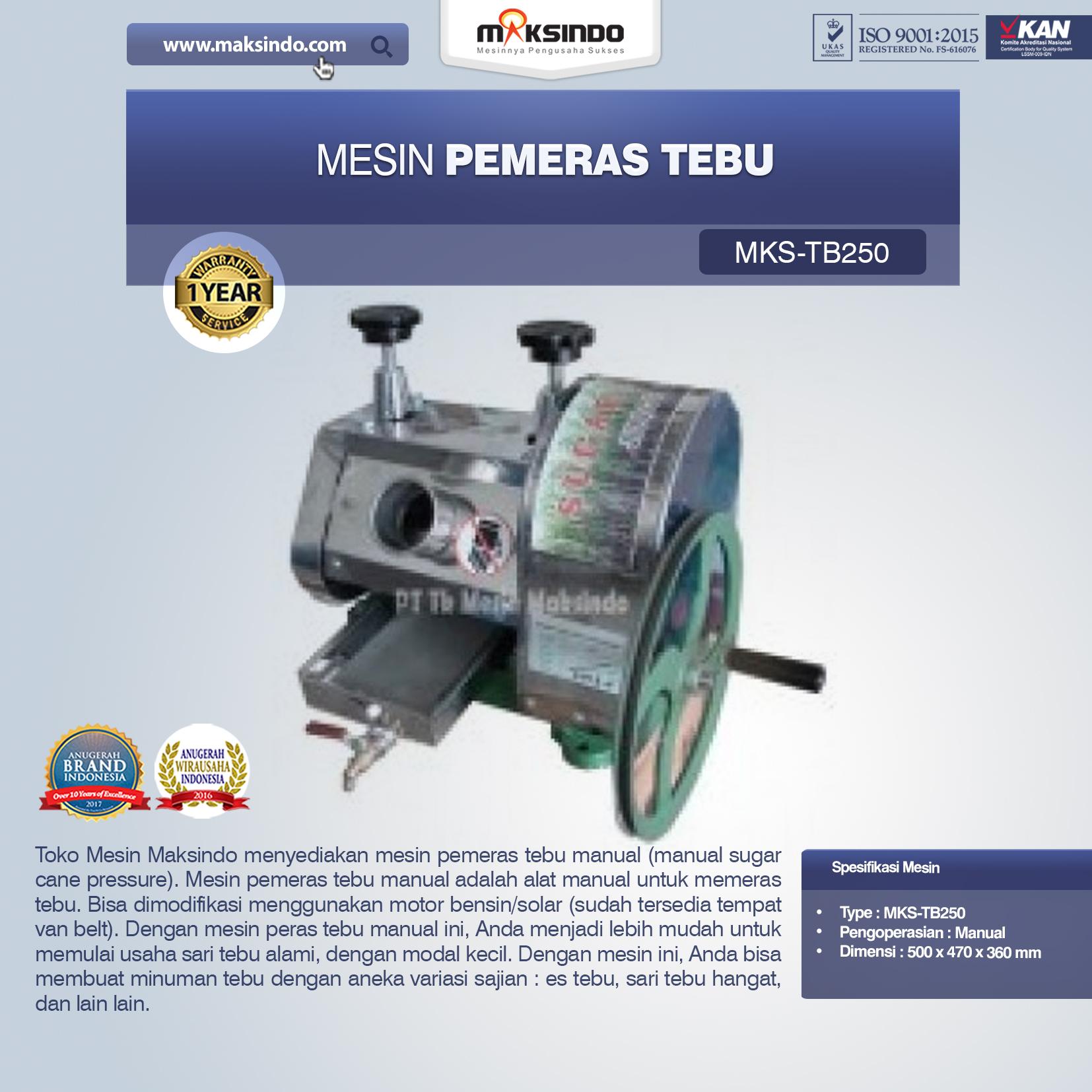 Jual Mesin Pemeras Tebu di Palembang