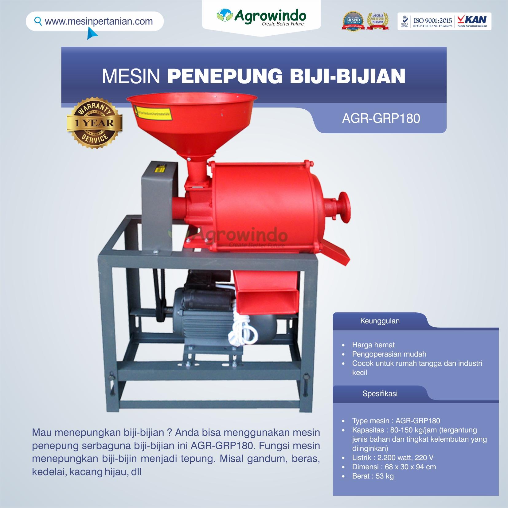 Jual Mesin Penepung Biji-Bijian GRP180 di Palembang
