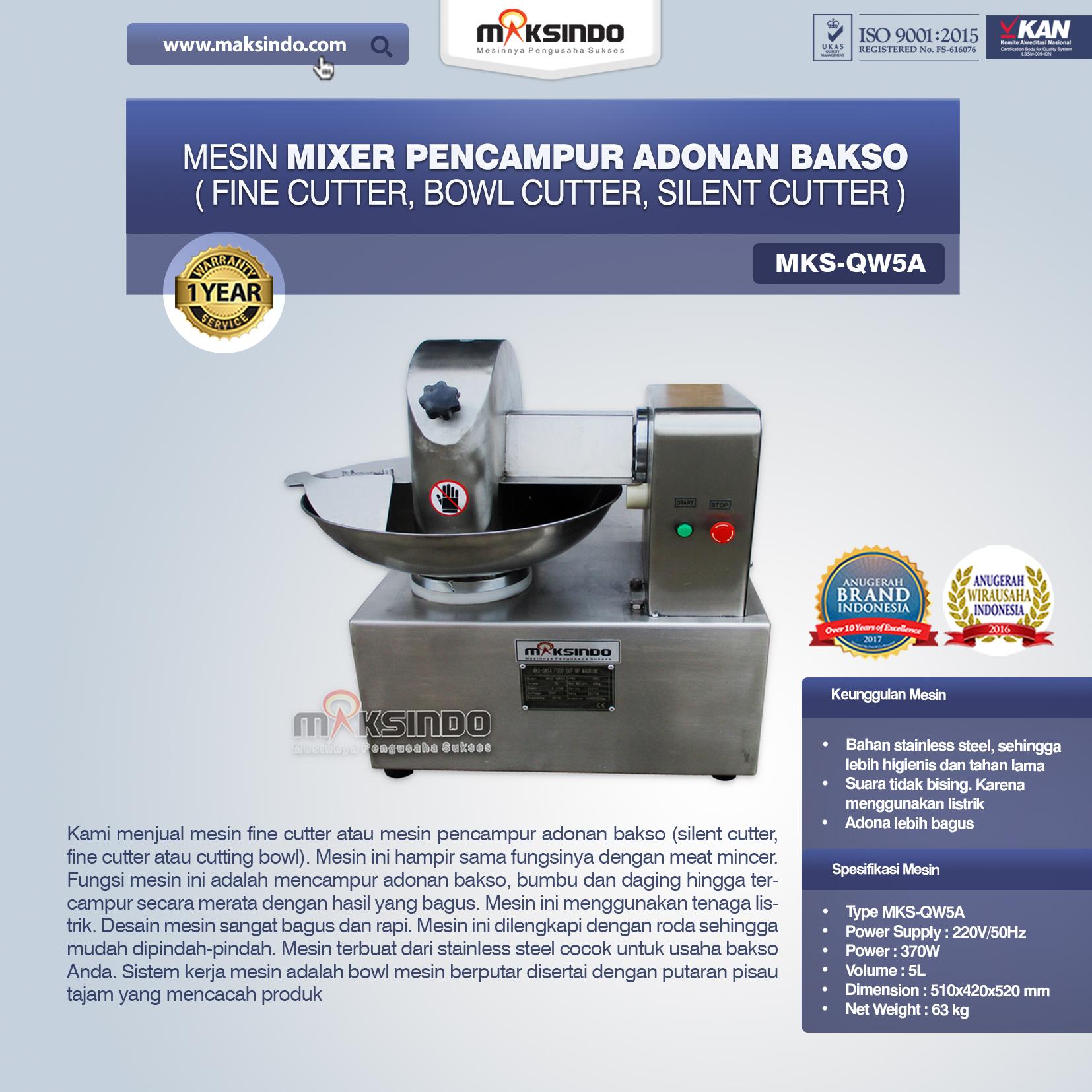 Jual Mesin Adonan Bakso (Cut Bowl / Silent Cutter / Fine Cutter) di Palembang