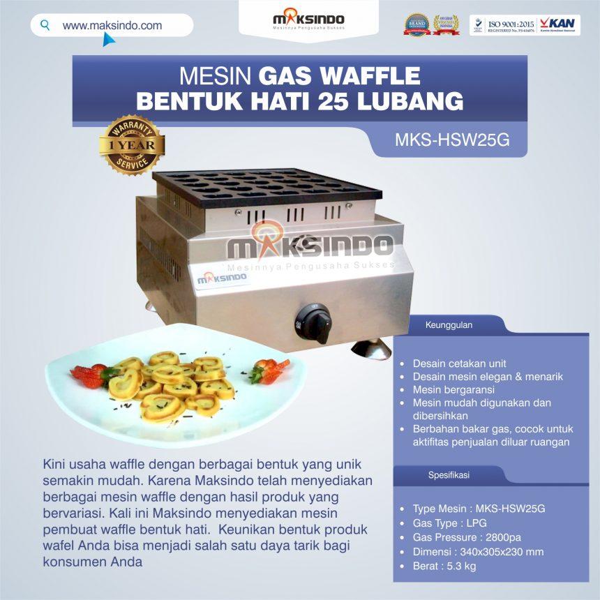Jual Gas Waffle Bentuk Hati 25 Lubang MKS-HSW25G di Palembang