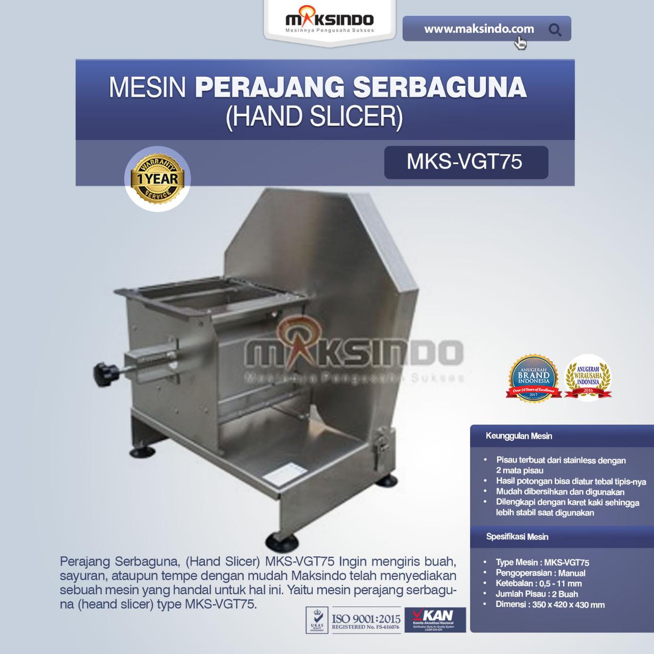 Jual Perajang Serbaguna (Hand Slicer) MKS-VGT75 Di Palembang