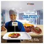Training Sukses Steak Bintang 5 Harga Kaki 5, Minggu, 13 Juli 2019