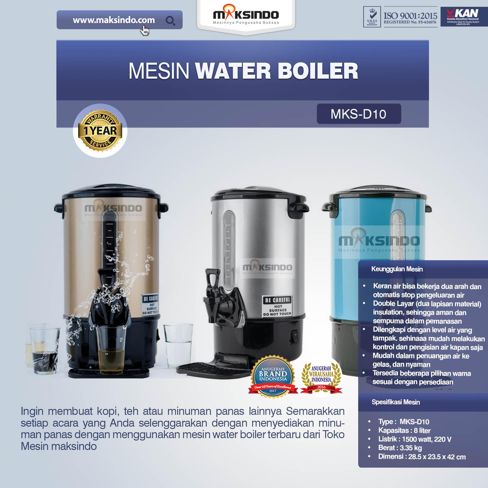 Jual Mesin Water Boiler New Model di Palembang