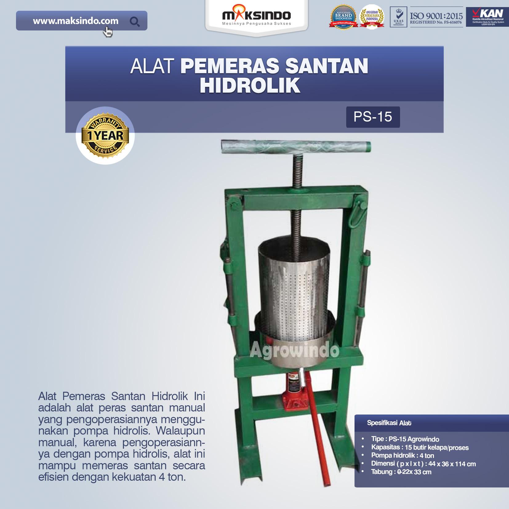Jual Mesin Pemeras Santan di Palembang