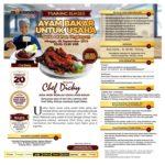 Training Sukses Membuat Ayam Bakar Untuk Usaha Serta Olahan Ungkepan, 08 September 2019