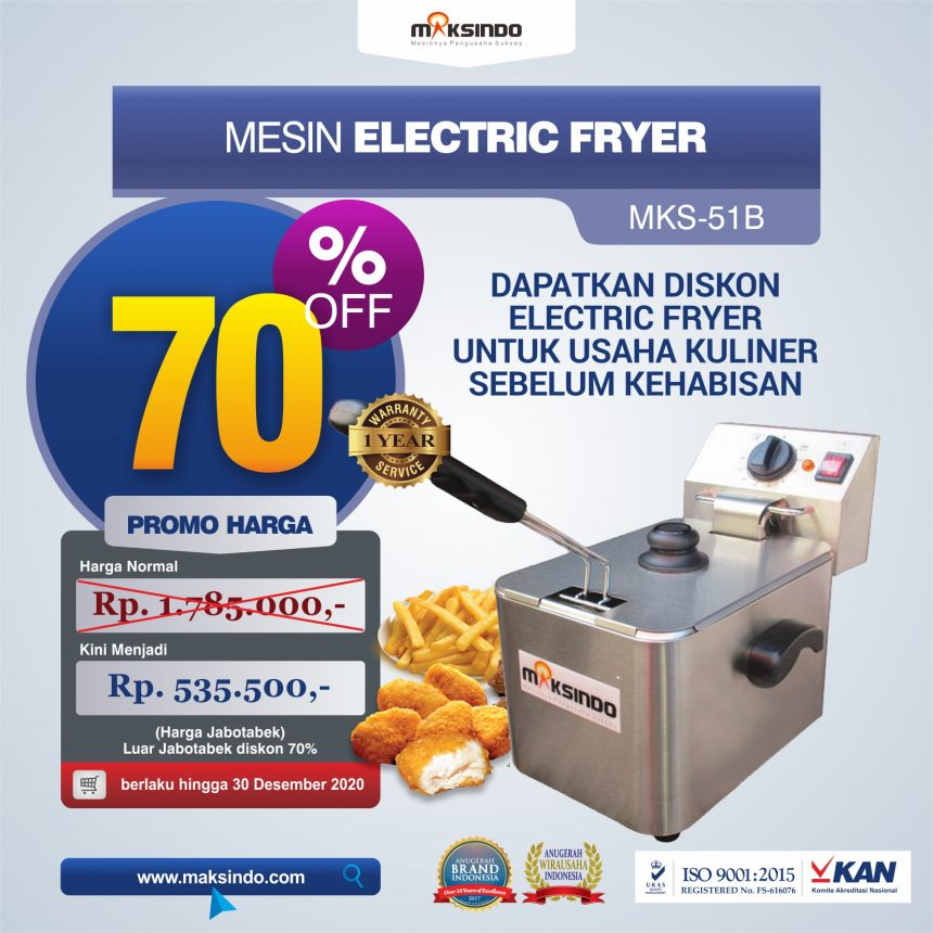 Jual Mesin Electric Fryer MKS-51B di Palembang