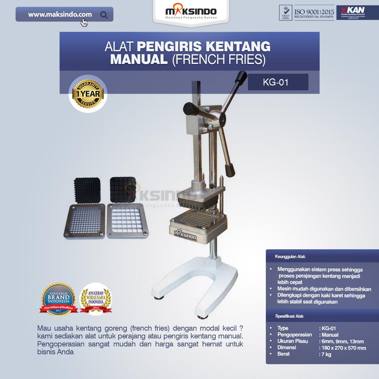 Jual Alat Pengiris Kentang Manual (french fries) di Palembang