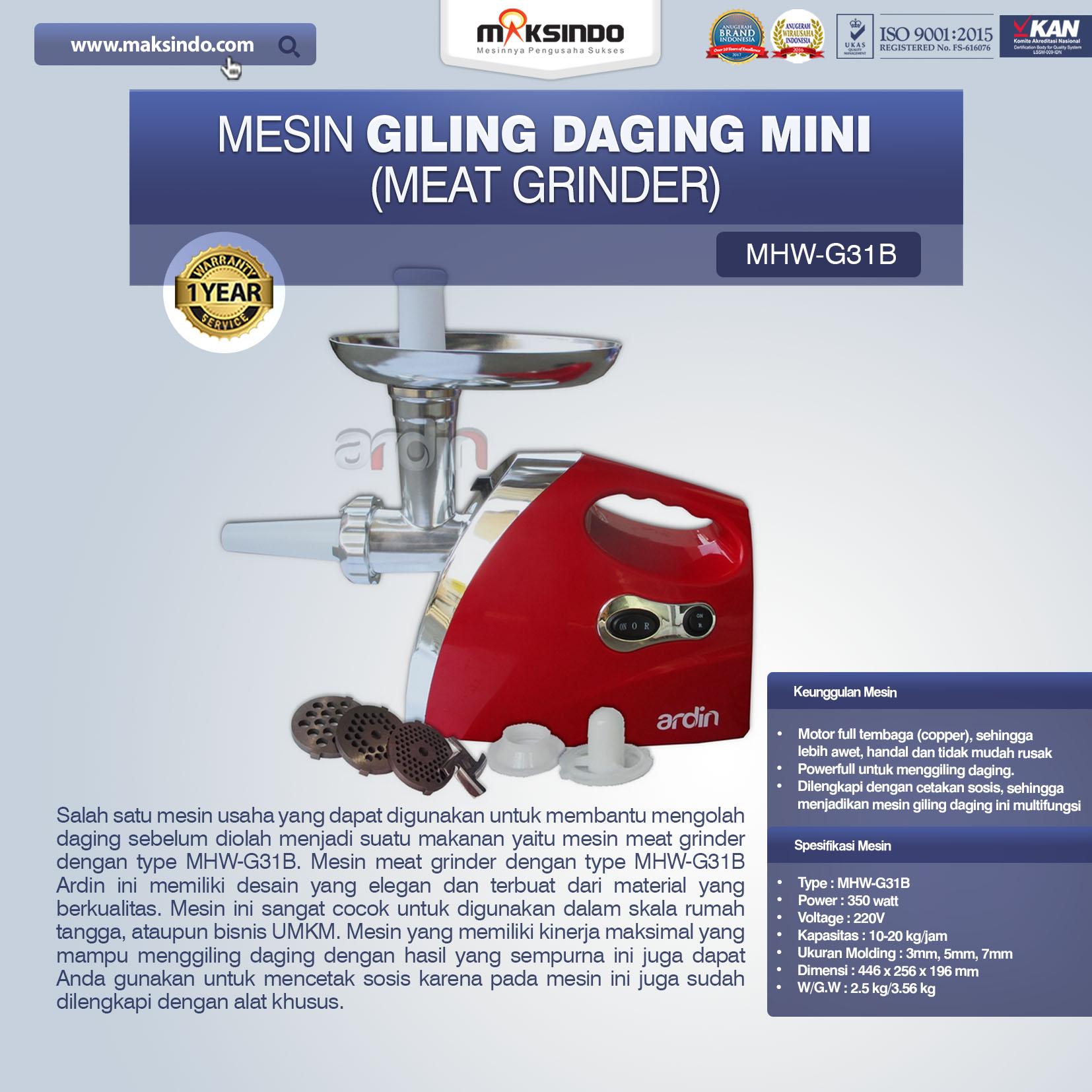 Jual Mesin Giling Daging Mini di Palembang