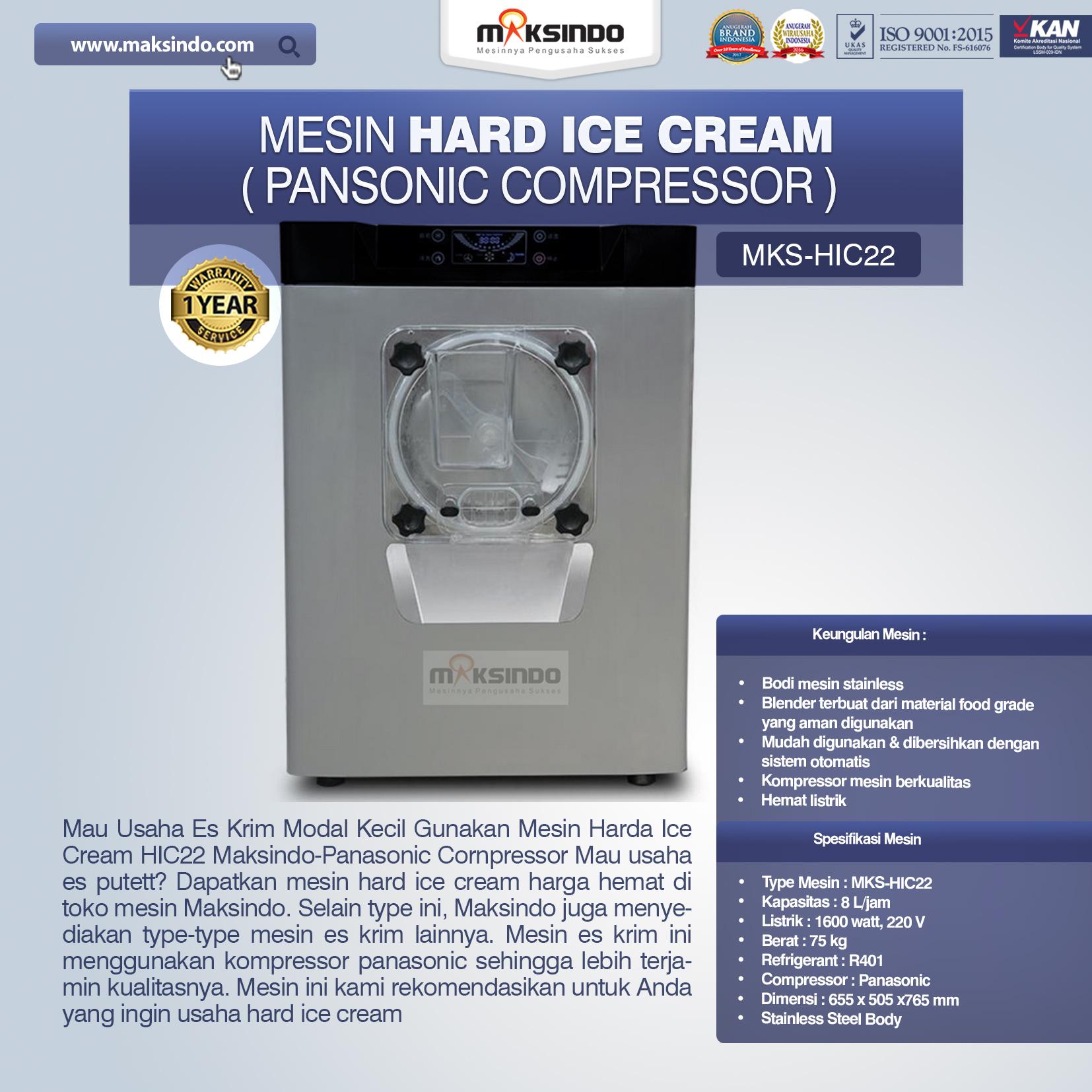 Jual Mesin Hard Ice Cream (HIC22) di Palembang
