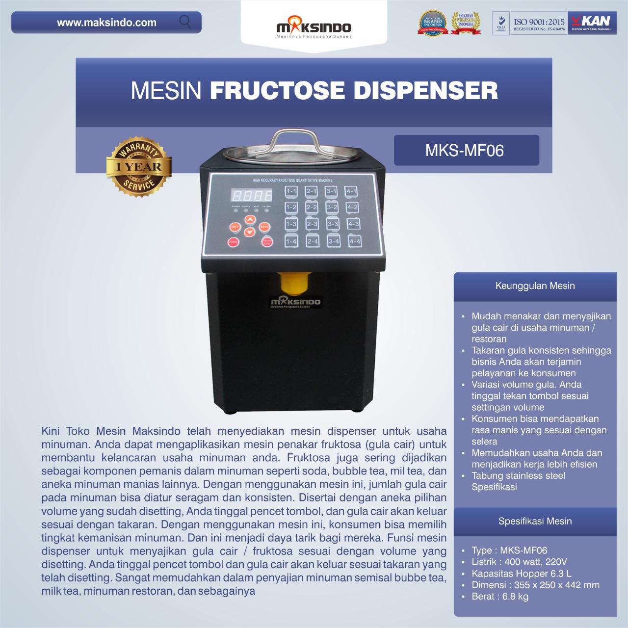 Jual Mesin Fructose Dispenser MKS-MF06 di Palembang