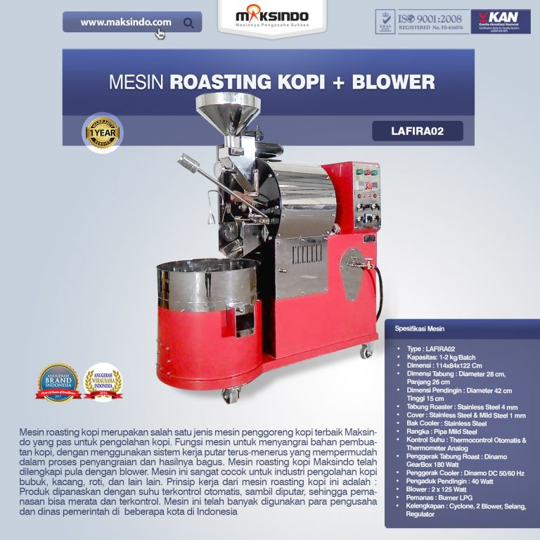 Jual Mesin Roasting Kopi + Blower di Palembang