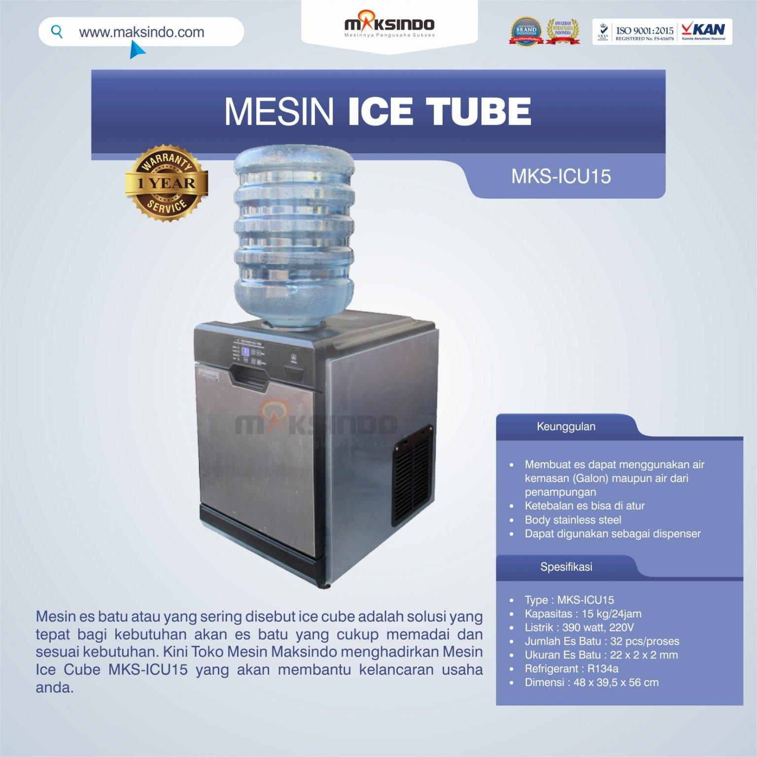 Jual Mesin Ice Cube MKS-ICU15 di Palembang