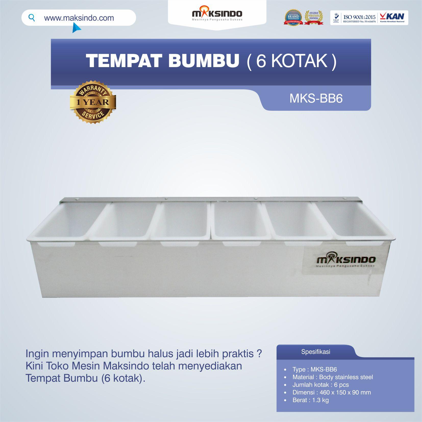 Jual Tempat Bumbu (6 Kotak) Di Palembang