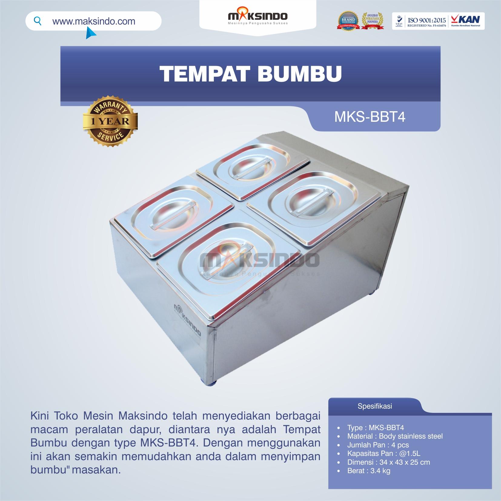 Jual Tempat Bumbu MKS-BBT4 di Palembang
