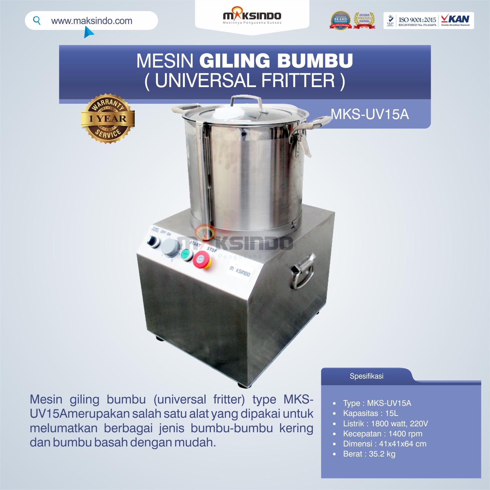 Jual Mesin Giling Bumbu (Universal Fritter) MKS-UV15A di Palembang