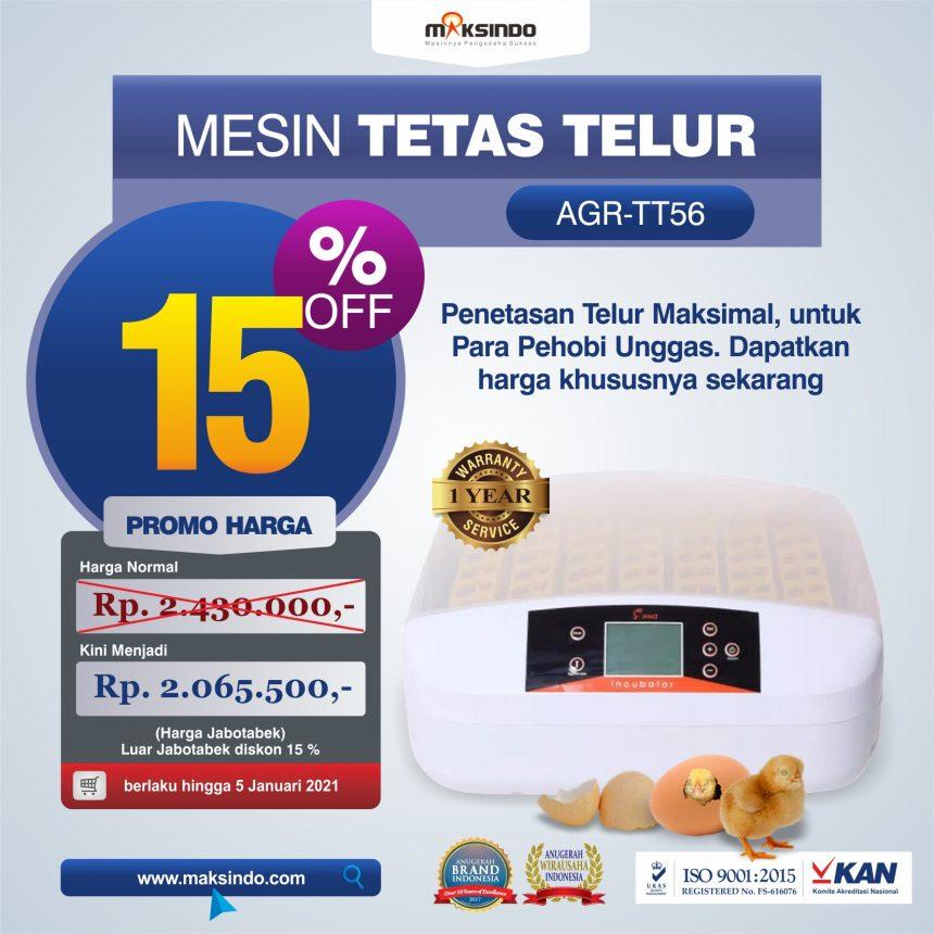 Jual Mesin Penetas Telur 56 Butir (AGR-TT56) di Palembang