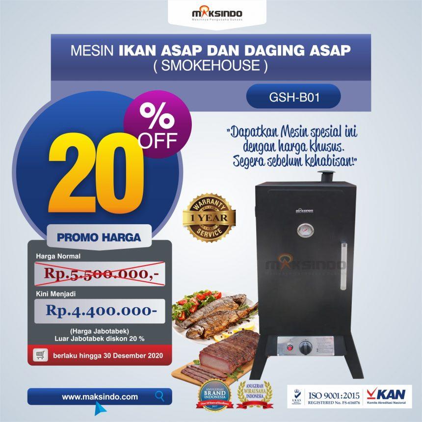 Jual Mesin Ikan Asap dan Daging Asap (Smokehouse) GSH-B01 di Palembang