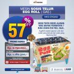 Jual Mesin Pembuat Egg Roll (Gas) MKS-ERG002 di Palembang