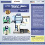 Jual Mesin Pemarut Kelapa Multifungsi AGR-PRT30 di Palembang