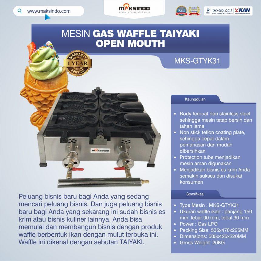 Jual Mesin Gas Waffle Taiyaki Open Mouth (GTYK31) di Palembang